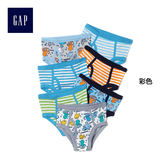 Gap男嬰幼童 卡通圖案三角褲多件組合 212821-彩色