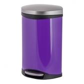 海貝緩降踏式垃圾桶10L 迷幻紫