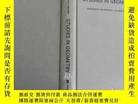 二手書博民逛書店Studies罕見in Geometry 布面精裝原版Y1715
