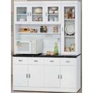 櫥櫃 餐櫃 HE-392-2 純白5.3尺碗碟櫃【大眾家居舘】