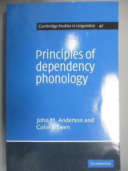 【書寶二手書T1/大學文學_WGE】Principles of Dependency Phonology