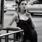 Aubade-歐巴德女人B復古短馬甲(黑)MC