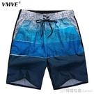 夏季沙灘褲男速干寬鬆五分褲加肥加大碼大褲衩夏天潮流可下水沖浪 檸檬衣舍