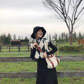 韓版復古百搭英倫菱格V領無袖針織背心學院風馬甲毛衣女  歐韓流行館
