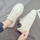 小白鞋 新款小白潮鞋女冬季百搭學生帆布休閒運動白鞋板鞋ins潮【快速出貨八折下殺】