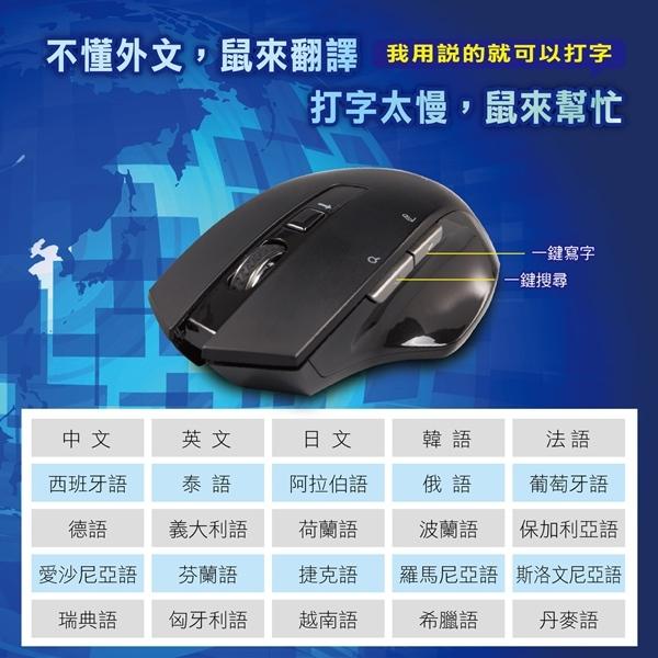 WONDER AI無線語音打字翻譯滑鼠 WA-I08MB