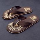 拖鞋男夏季沙灘鞋外穿布帶個性涼鞋室外涼拖潮軟底夾腳防滑人字拖 依凡卡時尚
