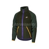 Nike 外套 NSW Fleece Jacket 綠 紫 男款 羔羊外套 絨毛 立領 【ACS】 BV3722-355