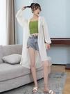 冰絲雪紡防曬開衫女中長款夏季新款薄款仙女防曬衣外搭披肩