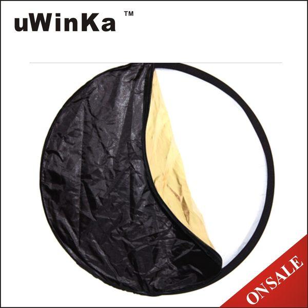 我愛買#uWinka副廠5合1反光板(110cm)白金銀黑柔共五色(可折疊附收納袋)5合1柔光板五合一反光版