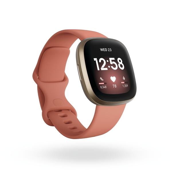 Fitbit Versa 3 一卡通智慧運動手錶 陶粉色