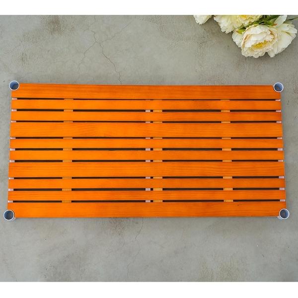 層板/置物架/收納架【配件類】90x45cm 松木烤漆白層板 _柚木色(含夾片) dayneeds
