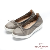 【CUMAR】文藝羅浮宮- 經典簡約素雅小蝴蝶結厚底娃娃鞋(灰色)