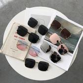 周揚清同款復古潮人百搭方框太陽鏡女學生正韓個性遮陽大框墨鏡潮 全館免運