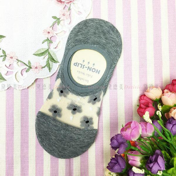 【KP】韓國 22-26cm 透膚 可愛 花朵 腳後跟止滑 黑 粉 膚 灰 成人襪 短襪 襪子 DTT1000002