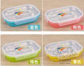 (百貨週年慶)不銹鋼分格保溫飯盒四格兒童學生成人便當盒食堂分格快餐盤盒