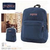 JANSPORT素色後背包包大容量 JS-43501-003深藍