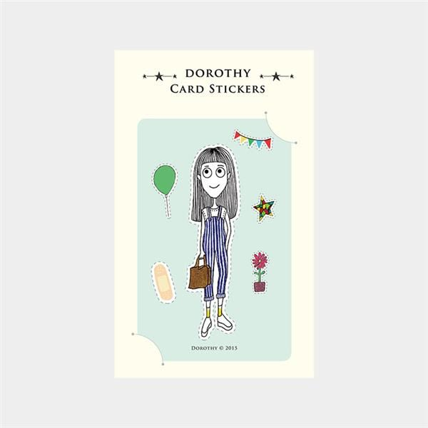 Dorothy/防水票卡貼-吊帶褲女孩