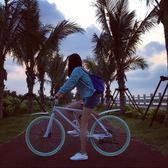 死飛腳踏車彩色雙碟剎腳踏車igo 極度潮客