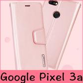 【萌萌噠】谷歌 Google Pixel 3a XL  韓曼小羊皮側翻皮套 帶磁扣 帶支架 插卡 全包矽膠軟殼 手機殼