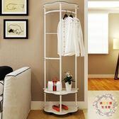 一件85折免運--衣帽架簡約現代掛衣架落地衣架家用臥室掛衣架客廳衣服架子XW