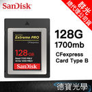 Sandisk Extreme PRO CFexpress Type B Card 128GB 1700MB