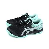 亞瑟士 ASICS GEL-ROCKET 9 運動鞋 排羽球鞋 黑/粉綠 女鞋 1072A034-003 no476
