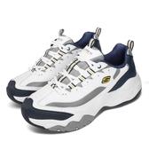 Skechers 休閒鞋 D Lites 3.0-Merriton 白 藍 男鞋 運動鞋 老爹鞋 【PUMP306】 52684WNVG