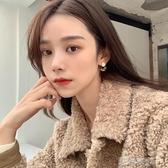 小奶豹 暈染幾何耳環女復古韓國氣質簡約不規則時尚耳飾耳夾R426  潮流衣館