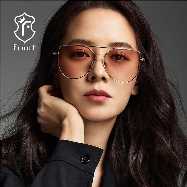 【Front 太陽眼鏡】So Good-六色可挑選#歐美時尚金屬大框太陽眼鏡/墨鏡