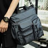 側背斜挎包潮流休閒手提包商務男士公文包大容量男背包【左岸男裝】