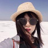 墨鏡女潮韓國個性太陽鏡近視圓臉眼鏡時尚新款【韓衣舍】