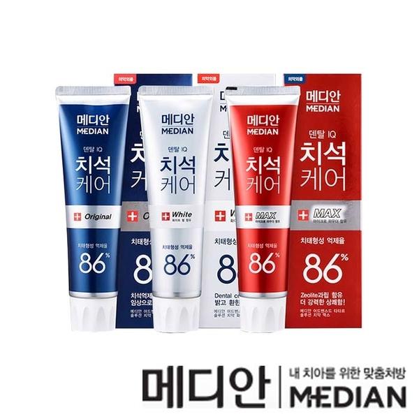 韓國 Median 愛茉莉 麥迪安 86% 強效淨白去垢牙膏 120g 皮諾丘 朴信惠