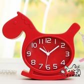 提醒器 邁爾靜音鬧鐘創意學生卡通兒童小鬧鐘表懶人臥室床頭電子時鐘座鐘 OB8158