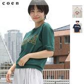 大學T恤 英文字母t恤 美國棉 日本品牌【coen】