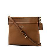 美國正品 COACH 質感真皮前置物袋斜背包-小/淺棕色【現貨】
