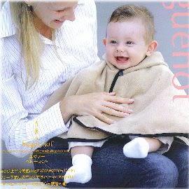 【波克貓哈日網】嬰幼兒外出披風  ◇huguenot◇《貼心連帽設計》2色可選~~可當外套包巾