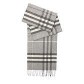 【BURBERRY】基本款經典格紋喀什米爾圍巾(淺灰)3994165 PALE GREY