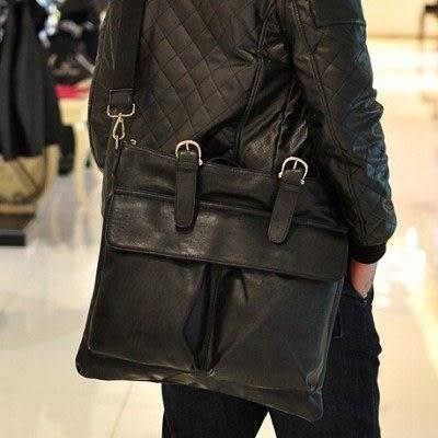 現貨 簡約個性雙袋大包包舒適斜背包男包...流行線