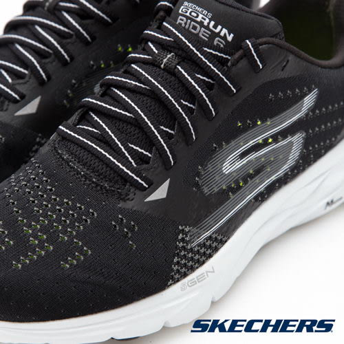 SKECHERS 女 跑步系列GORun Ride 6 透氣 專業慢跑鞋 - 黑14117BKW