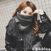 圍巾女 圍巾女冬季韓版學生兩用百搭秋冬天雙面加厚長款披肩毛線針織圍脖 芭蕾朵朵