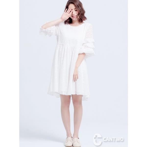 CANTWO層次荷葉宮廷風洋裝(共二色)~春夏新品登場