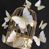 CARMO超美流線金白色蝴蝶冰箱貼/微景觀(單入)【A0UP019】
