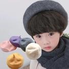 【童】百搭保暖羊毛貝雷帽/畫家帽 11色【E297451】