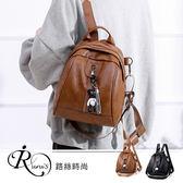 韓系雜誌款個性百搭拉鍊貝殼雙背包/2色 (YL0045-BM7032) iRurus 路絲時尚