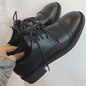ZUCAS~(NN-6528)學院百搭黑色粗跟單鞋牛津鞋