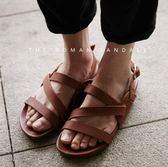 韓國 羅馬 真皮涼鞋 牛皮 羅馬鞋