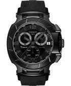 TISSOT 天梭 T-Race 急速傳奇計時運動錶-黑 T0484173705700