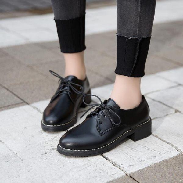 chic小皮鞋女學生韓版百搭ulzzang原宿zipper英倫風女鞋子軟妹bf