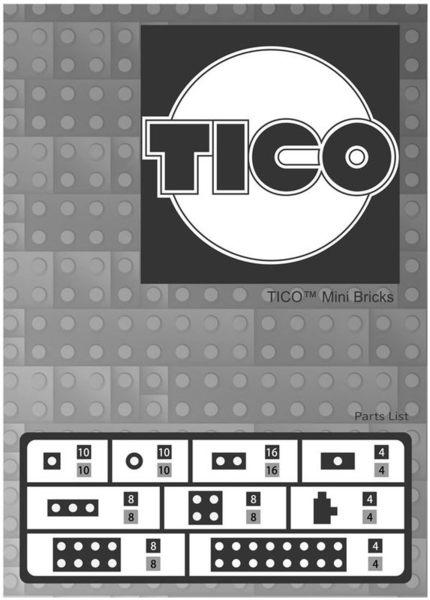 【Tico微型積木】零件補充包-灰 (9904)